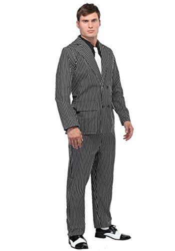 Wide Stripe Plus Size Gangster Costume 3X]()