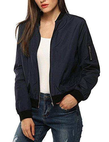 Navy Blue Baseball Jacket - 5