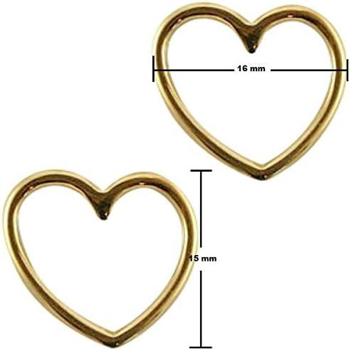 19 x 15 mm 10 Stk Sadingo Schmuckverbinder Zwischenstück Herz Antik Silber