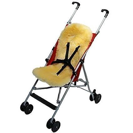 Caliente Piel cordero para carrito de bebé - Forro de silla ...