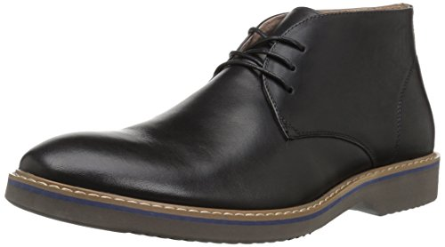 Florsheim Men's Union Plain Toe Dress Casual Chukka Boot, Black/Gray, 7 Medium