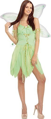 Women's Tinker Bell Fancy Dress Party Fairytale Outfit Green Fairy Costume - Adult Tinkerbell Outfits