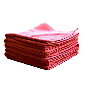 Microfiber Cleaning Towels (5 Pack) | All-Purpose, Reusable, Absorbent, Cleaning, Drying, Dusting, Polishing Cloths (16in x 16in)