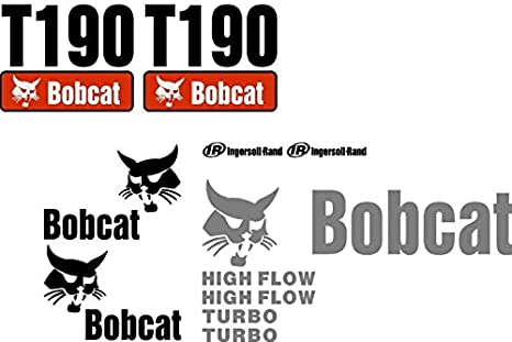 Amazon com: New T190 Bobcat Excavator Decal Set Whole Machine w