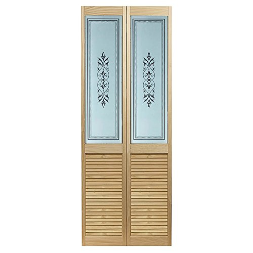 """Pinecroft 885720LB Tapestry Louvered Bottom Bifold Interior Wood Door, 23.5"""" x 78.625"""", Unfinished"""