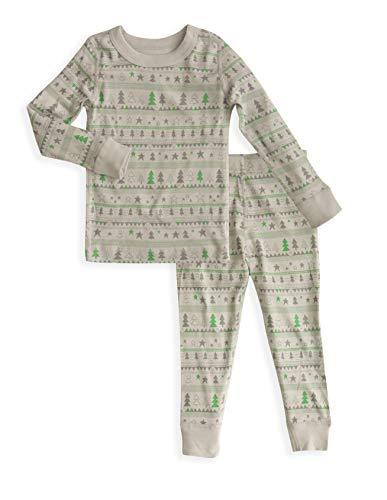 Toddler Long Sleeves Holiday Pajamas Set- 100% Soft Organic Turkish Cotton- Unisex Boys/Girls Winter- Sizes 4T ()
