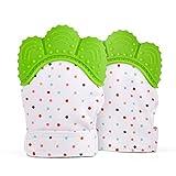 Guante Mordedera. 1 pieza de alta calidad para los dientes de bebes recien nacidos que puede ayudar a aliviar el dolor en la etapa de dentición. Accesorio de chupones que sirve como anticolicos y antireflujo. Increible regalo para baby shower!! Baby teething glove. (Verde)