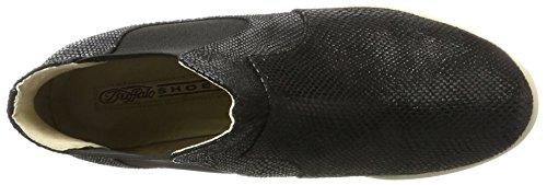 Buffalo Shoes 15bu0144 Snake Pu, Botas Chelsea para Mujer Negro (Black 01)