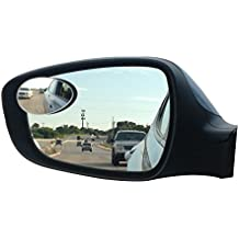 New Blind Spot Mirrors. Can be Adjustable or Fixed installed. Car Mirror for blind side / Door mirrors by Utopicar. Larger image and traffic safety. Wide angle rear view! [frameless design] (2 pack)