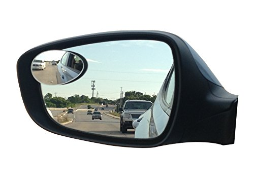 New Blind Spot Mirrors. Can be Adjustable or Fixed installed. Car Mirror for blind side / Door mirrors by Utopicar. Larger image and traffic safety. Wide angle rear view! [frameless design] (2 (Change Side View Mirror)