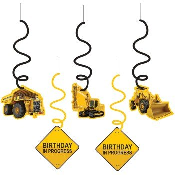 Construction Zone Birthday Whirls by Creative (Construction Party Decorations)