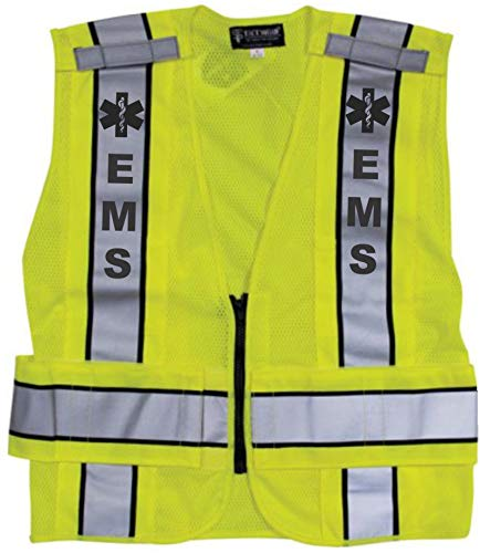Reflective Traffic Safety Vest - EMS - ANSI 207-2006 Compliant - MED - Extra-Small - Medium ()