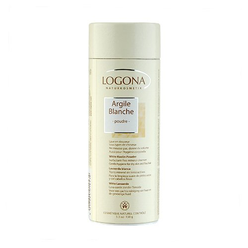 Logona Natural Body Care White Kaolin Powder 150 gm/5.3 oz Mineral Hair Cleansers (Natural Logona Care Body)