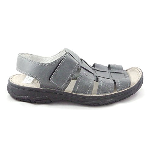 Softwalk grau Leder Herren Casual Sandale