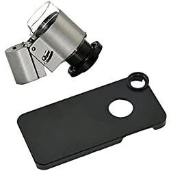 Apexel 65x LED UV Mini Microscope Jewellery Magnifier Glass Lens with Back Case for iPhone 5/5S