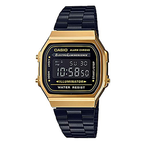 Casio Unisex A168WEGB-1BVT Watch Gold Blk