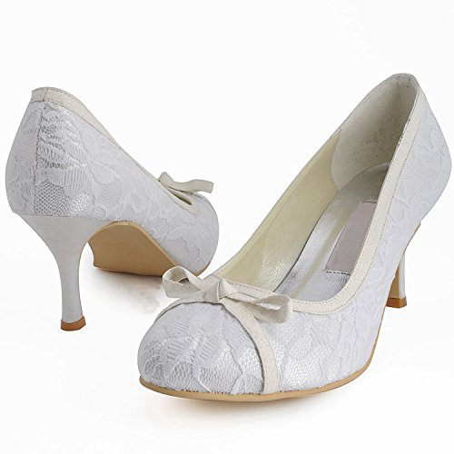 Minitoo , Chaussures de mariage tendance femme - beige - Ivory-7.5cm Heel,