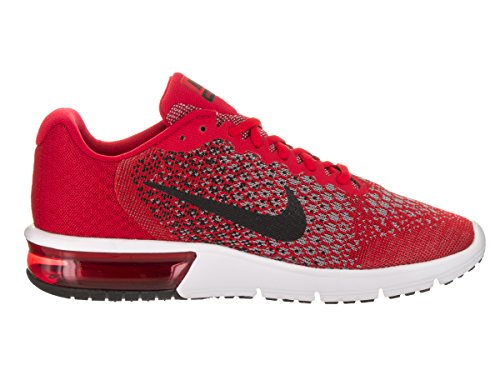Nike Mens Air Max Sequent 2 Universita Rosso / Nero / Nero Scarpa Da Corsa 10 Uomini Us