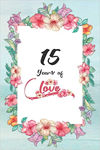 15th Anniversary Journal Lined Journal Notebook 15th