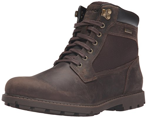 Rockport Men's Rugged Bucks Waterproof High Chukka Boot, Dark Brown, 12 M (D)