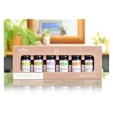 Essential Oils Kit - 100% Pure Certified Organic - Premium Therapeutic Grade - 6 Types