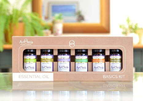Essential Oils Kit - 100% Pure Certified Organic - Premium Theraputic Grade - 6 Types