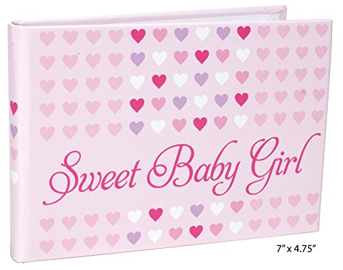 Pink Traditional Album - Malden International Designs Sweet Baby Girl Brag Book, 1-Up, 40-4x6, Pink