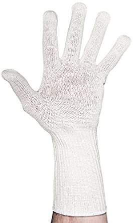ANSI level 5 Cut Resistance One Glove 441015-S White Small UltraSource Cut Resistant Glove with Extended Cuff