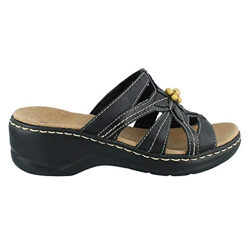 Clarks Women's Lexi Myrtle Sandal, Black, 9 B - Medium by CLARKS
