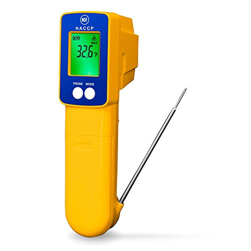 DeltaTrak 15039 Fast Accurate HACCP Infrared Thermocouple Probe Combo Thermometer Internal External Temperature by DeltaTrak