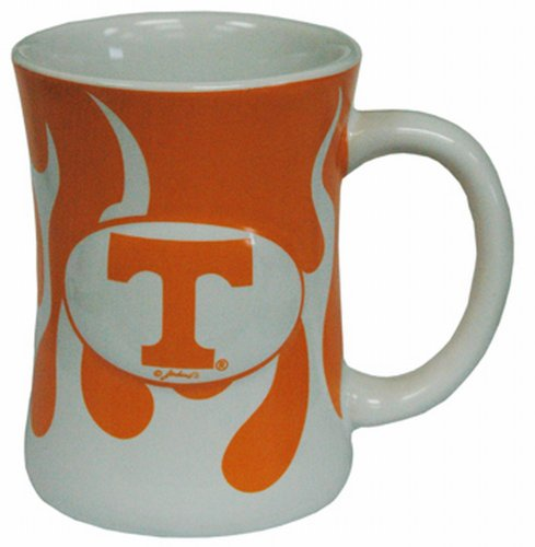 (NCAA Tennessee Volunteers Ceramic Relief Flame Design Mug, Team Color)