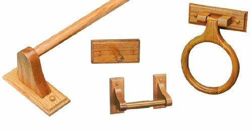 Design House 534610 Bradford 4 Piece Accessory Kit, Honey Oak Finish (Honey Oak House)