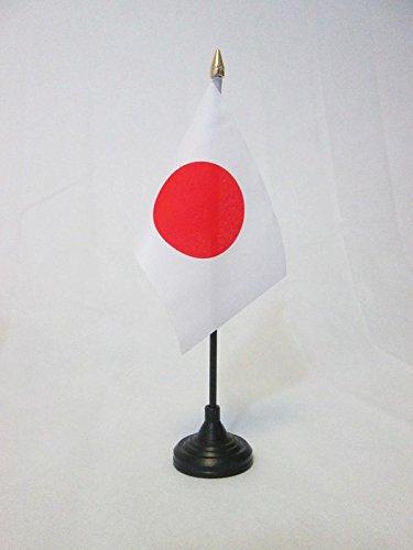BANDIERA DA TAVOLO GIAPPONE 15x10cm punta dorata - PICCOLA BANDIERINA GIAPPONESE 10 x 15 cm - AZ FLAG