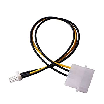 ZRM/&E 5pcs PC Fan Cable D Type Large 4Pin IDE Male Port to 3Pin Fan Power Male Port CPU//Case Cooling Fan Connector Power Extension Cable 20cm