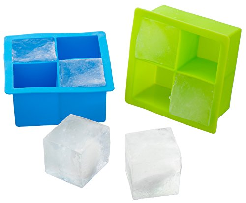UPC 709317658132, Kuuk Silicone Large Ice Cube Mold Tray (Twin Pack) Blue and Green