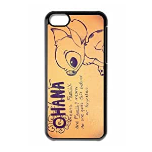 Fashion Lilo and Stitch Personalized iPhone 5C Hard Case Cover -CCINO