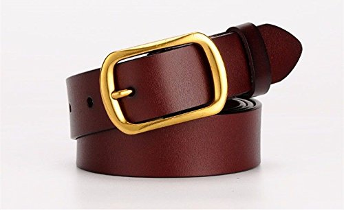LIUXINDA-YD Women belts fashion casual skin material trousers belt trend simple brown 105CM Please choose the size that suits you before purchase, -