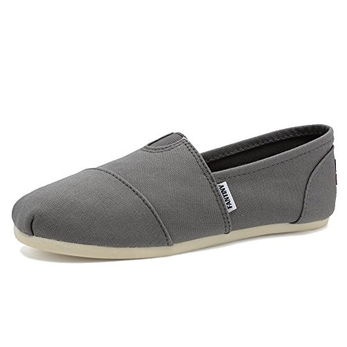 Fantiny Women's Classics Canvas Shoes Memory Foam Insole Flats Loafers Slip on CasualShoes by CIOR