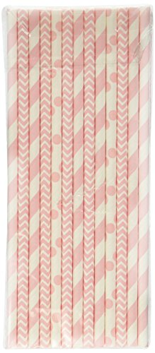 Pink Baby Shower Straws Pack product image