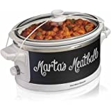 Hamilton Beach Wrap and Serve 6 Qt Slow Cooker with Chalkboard Wrap
