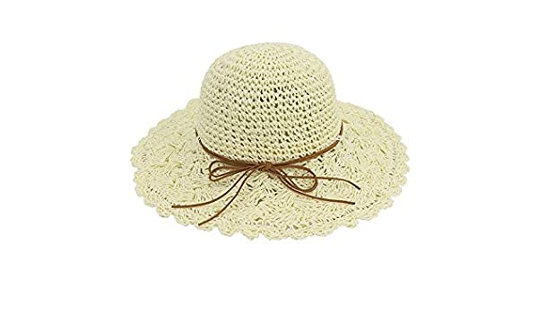 Amazon.com  Ruiyue Summer Straw Hats 7dff7bb1a8bf