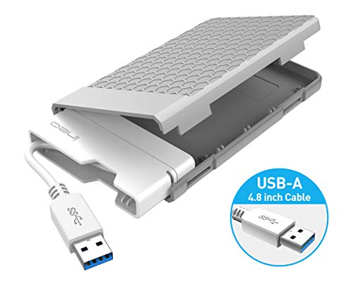 ineo USB 3.0 Tool-free External Hard Drive Enclosure for 2.5 inch 9.5mm & 7mm SATA HDD SSD with UASP Supported and Screwless [T2578]