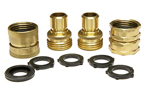 brass hose quick connect set