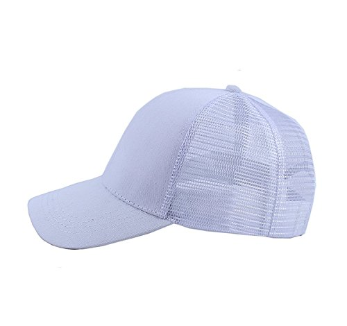 Amkun Ponytail Baseball Cap Hat Ponycaps Messy Ponytail Adjustable Outdoor Mesh  Cap Trucker Dad Hat for Women Men - Buy Online in Oman. bcdd728b0ece