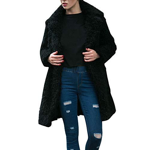 Sciolti Soprabito Signore Oversize Parka Donne Outwear Caldo Moda Casual Nero Vonvonco Di Lungo pRHq8c