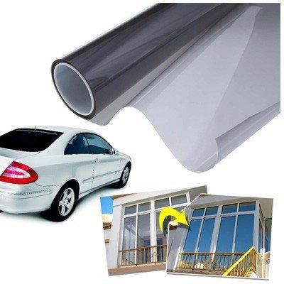 takestop® Pellicola Solare 50X300 Oscurante Adesiva per FINESTRE E VETRI di Auto Parasole CASA Ufficio MOON 100422