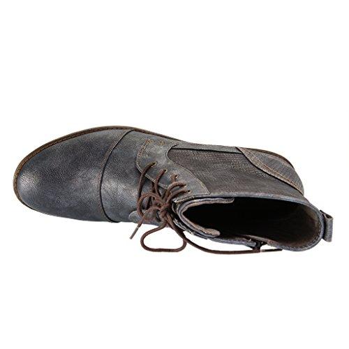 Mustang Damen Boots - Blau Schuhe in Übergrößen