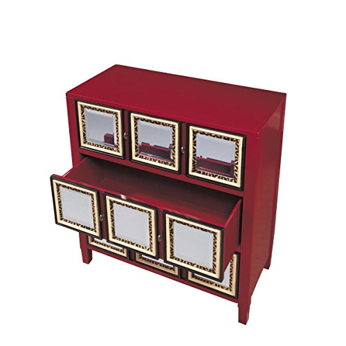 Pulaski Erika Accent Chest, 34 by 16 by 37-Inch, Red ()