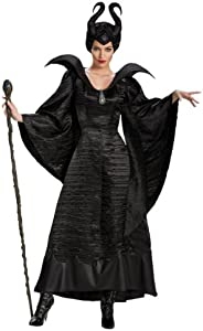 Disguise Adult Deluxe Maleficent Christening Black Gown Costume
