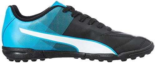 Puma Adreno II TT Junior - Zapatillas de Fútbol Unisex Niños, Black (Black/White/Blue), 5,5